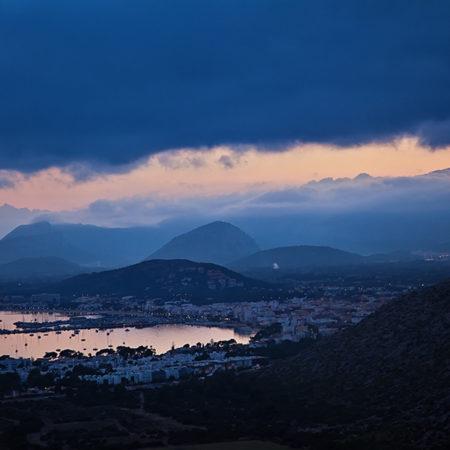 Mallorca, Port de Pollenca, Abendstimmung, Hafen, Berge, melanie brunzel, foto-graefin,