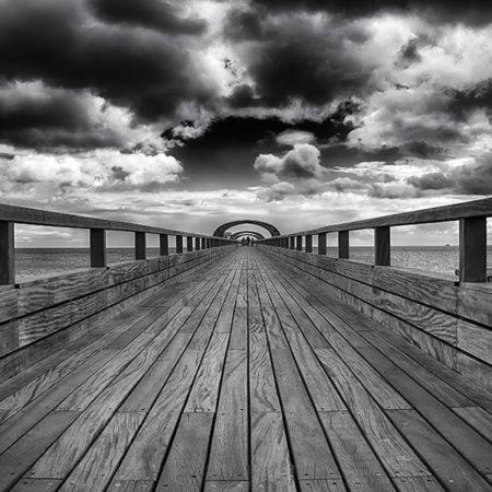 Ostsee, seebrücke, melanie brunzel, foto-graefin, schwarz-weiss