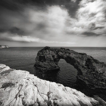 Mallorca, Felsen, Meer, Landschaft, monochrome, melanie brunzel, foto-graefin